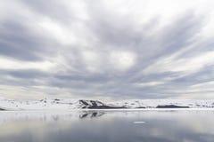 Valfångarefjärd, bedrägeriö, Antarktis Arkivfoto