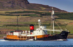 Valfångstskepp Hvalur 9 RE-399. Arkivfoto