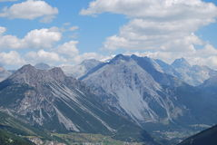 Valfurva valley. The valfurva valley after the Gavia Pass to Livigno and Switzerland Royalty Free Stock Photos