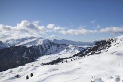 Valgardena-Winter Lizenzfreie Stockfotografie