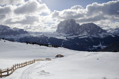 Valgardena-Winter Stockbild