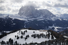 Valgardena-Winter Stockfotos