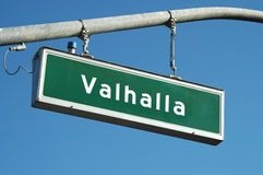 Valhalla sign Stock Photos
