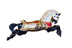 Carousel horse Burnaby Village Museum Royalty Free Stock Image