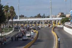 Valico di frontiera di Tijuana Immagine Stock
