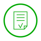Valid Document  icon. Royalty Free Stock Photography