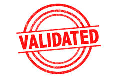 VALIDATED Rubber Stamp Stock Image