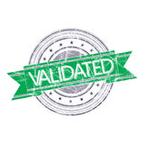 Validated stamp. Validated grunge rubber stamp on white Royalty Free Stock Photos