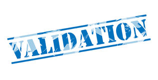 Validation blue stamp Royalty Free Stock Images