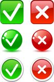 Validation buttons. Stock Photos