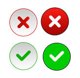 Validation buttons. Vector illustrator EPS stock illustration