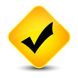 Validation icon elegant yellow diamond button Stock Photos