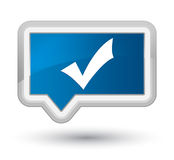 Validation icon prime blue banner button Stock Images