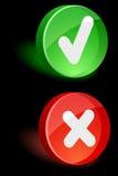 Validation Icons. Royalty Free Stock Image