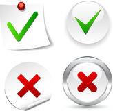 Validation Icons. Stock Photos