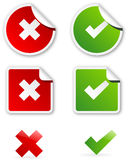 Validation icons Royalty Free Stock Photography