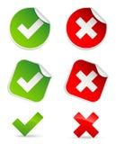 Validation icons Royalty Free Stock Photo