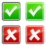 Validation icons Stock Image
