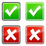 Validation icons Stock Image