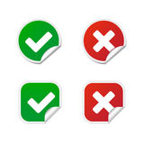 Validation labels. Round and square validation labels Royalty Free Stock Photography
