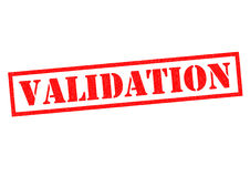 VALIDATION Stock Photo