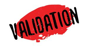 Validation rubber stamp Stock Photo