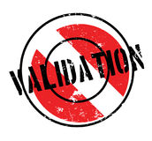 Validation rubber stamp Stock Images