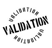 Validation rubber stamp Royalty Free Stock Images