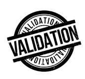 Validation rubber stamp Stock Image