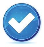 Valide el botón redondo primero azul de medianoche del icono ilustración del vector