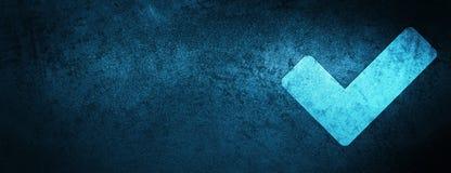 Valide el fondo azul especial de la bandera del icono libre illustration