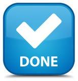(Valide el icono) botón cuadrado azul ciánico especial hecho ilustración del vector