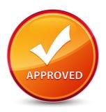 (Valide el icono) botón redondo anaranjado vidrioso especial aprobado libre illustration