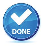 (Valide el icono) botón redondo primero azul de medianoche hecho ilustración del vector