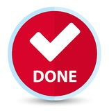 (Valide el icono) botón redondo rojo primero plano hecho libre illustration