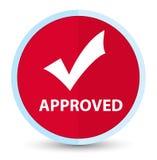 (Valide el icono) botón rojo primero plano aprobado de la ronda libre illustration