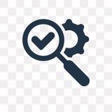 Valide el icono del vector aislado en el fondo transparente, Validat stock de ilustración