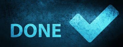 (Valide el icono) fondo azul especial hecho de la bandera ilustración del vector