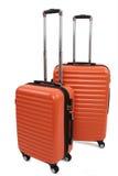 Valigia arancio Fotografie Stock Libere da Diritti