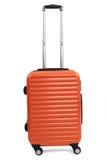 Valigia arancio Fotografia Stock Libera da Diritti