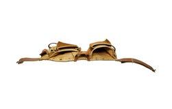 Valigia attrezzi di cuoio per convenienza Immagine Stock
