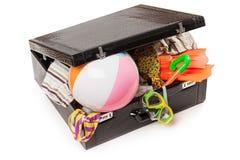 Valigia dei bagagli di corsa Fotografia Stock