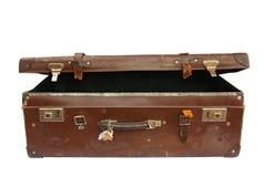 Valigia dell'annata (con il percorso) Immagine Stock