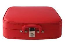 Valigia di colore rosso dell'annata Fotografie Stock Libere da Diritti