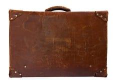 Valigia di cuoio d'annata fotografia stock libera da diritti