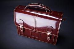 Valigia di cuoio di affari Fotografie Stock