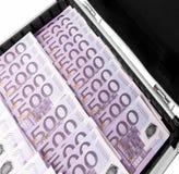 Valigia di immagine dell'euro Fotografia Stock