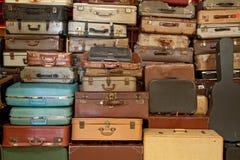Valigia e cartella dell'annata Fotografia Stock