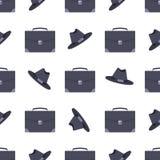 Valigia ed illustrazione black hat di vettore del modello Fotografia Stock