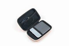 Valigia esterna del disco rigido Borse per disco rigido esterno Fotografia Stock